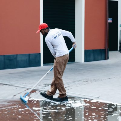 pulizia piazzale